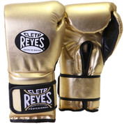 Cleto Reyes Professional Training Boxing Gloves with Velcro - Gold