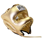 Cleto Reyes Traditional Headgear with Nylon Face Bar - Gold