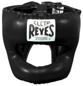 Cleto Reyes Traditional Headgear with Nylon Face Bar - Black