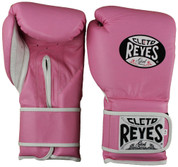 Cleto Reyes Extra Padding Training Gloves - Velcro - Pink