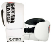 Triumph United Storm Trooper Lace Up Pro Boxing Gloves White