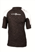 Bad Boy Short Sleeve Fight Rash Guard - Black/White