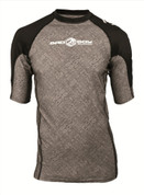 Bad Boy Short Sleeve Fight Rash Guard - Grey/Black