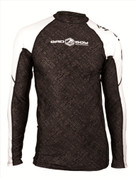 Bad Boy Long Sleeve Fight Rash Guard - Black/White