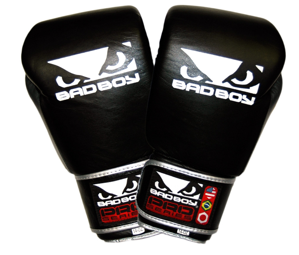 show original title Details about  /Bad Boy MMA Pro Series Boxing Gloves Leather Black Kick Punch Gloves Sparring