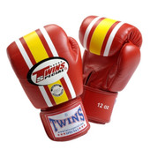 Twins Special Lumpini Boxing Gloves Premium Leather - Lumpini Red