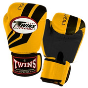 Twins Special Fighting Spirit Boxing Gloves- Premium Leather- Yellow Black