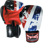 Twins Special Perseverance Boxing Gloves- Premium Leather - Red Black