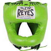 Cleto Reyes Traditional Headgear with Nylon Face Bar - Citrus Green