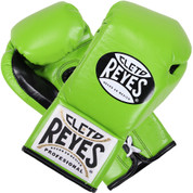 Cleto Reyes Training Gloves With laces and attached thumb - Citrus Green