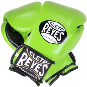 Cleto Reyes Professional Training Boxing Gloves with Velcro - Citrus Green