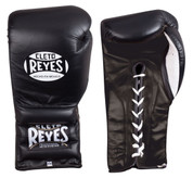 Cleto Reyes Professional Training Gloves -Lace up - Black