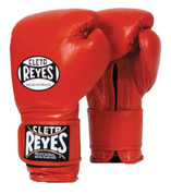 Cleto Reyes Hook & Loop Training Gloves - Velcro - Red