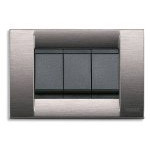 Classica Plate 3M Technopolymer Satin Grey