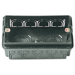 Flush Mounting Box 4M Black