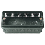 Flush Mounting Box 5M Black