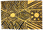 Tunga Tea Towel - Black Yellow White