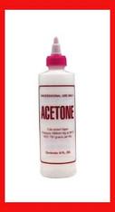 Empty Plastic Bottle - Acetone 8 oz.