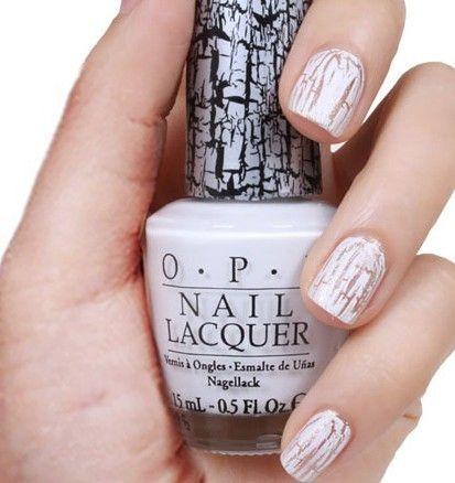 OPI White Shatter E54 Nail Polish White Cream Shatter