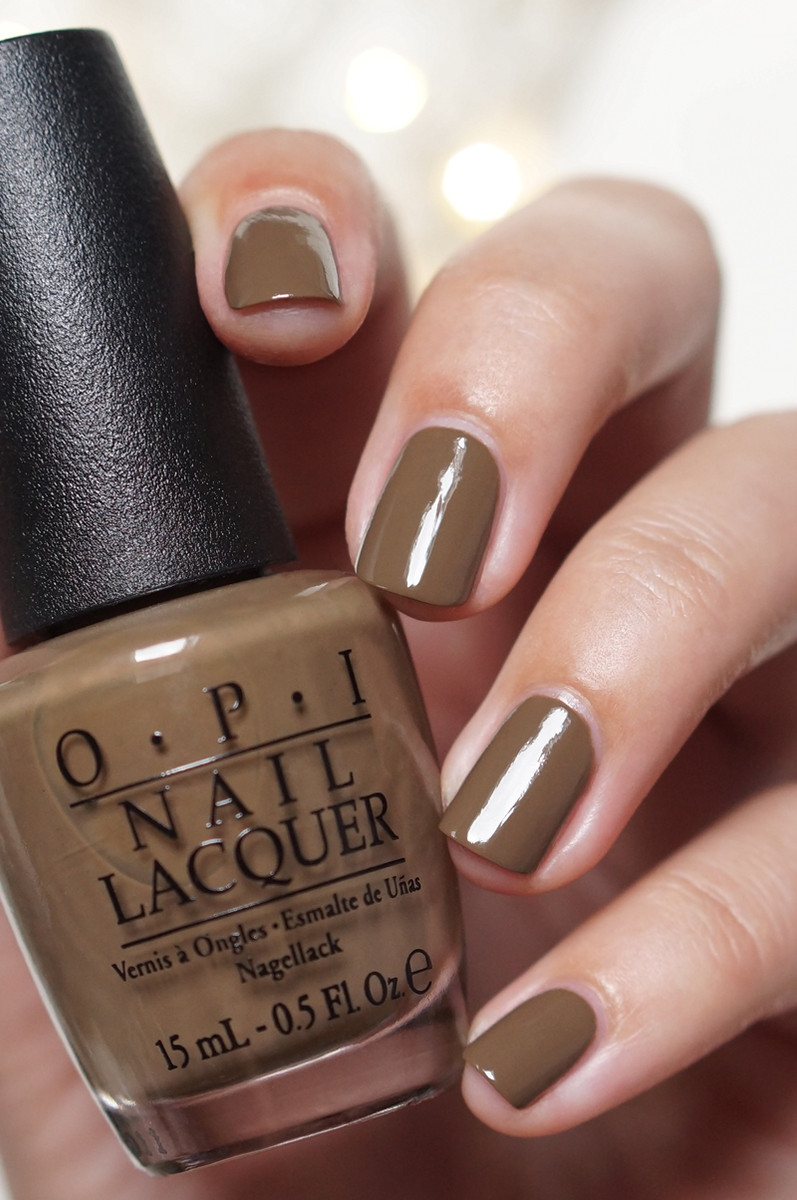 Opi A Taupe The Space Needle T24 Nail Polish Taupe Brown Green Tan