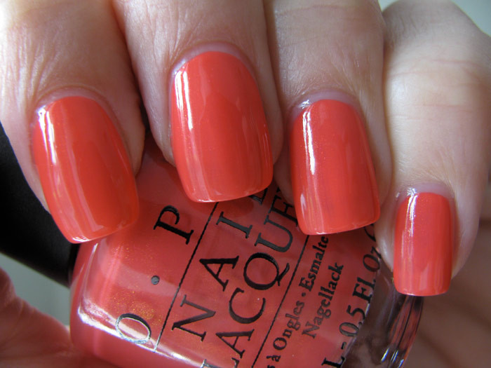 OPI Are We There Yet? T23 Nail Polish Red Orange Pink
