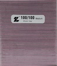 Black File w/ Pink center 100/100  (pack of 50)