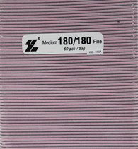 Black File w/ Pink center 180/180  (pack of 50)