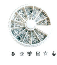 Rhinestone Wheels Assorted Crystals