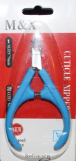 M & X Cuticle Nipper (9 mm) - Blue 1/4 jaw