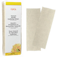 Gigi - Natural Muslin Strips (100 strips) Large