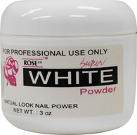 Rose Acrylic Powder - Super White (3 oz)