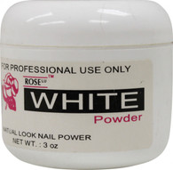 Rose Acrylic Powder - White (3 oz)
