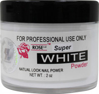 Rose Acrylic Powder - Super White (2 oz)