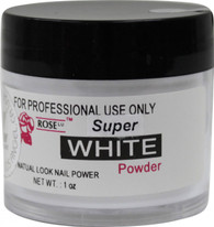 Rose Acrylic Powder - Super White (1 oz)