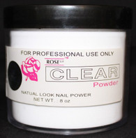Rose Acrylic Powder - Clear (8 oz)