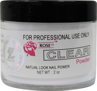 Rose Acrylic Powder - Clear (2 oz)