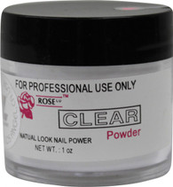 Rose Acrylic Powder - Clear (1 oz)
