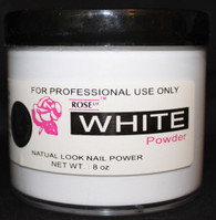 Rose Acrylic Powder - White (8 oz)