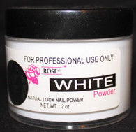 Rose Acrylic Powder - White (2 oz)