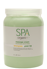 Spa Organics Massage Cream - Lemongrass & Green Tea (64 oz)