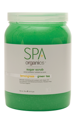 Spa Organics Sugar Scrub - Lemongrass & Green Tea (64 oz)