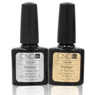 CND Shellac - UV/LED Top Coat & Base Coat Combo (.25 oz)