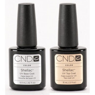 CND Shellac - UV/LED Top Coat & Base Coat Combo (.5 oz)