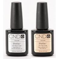 CND Shellac - UV/LED Top Coat & Base Coat Combo (.5 oz)