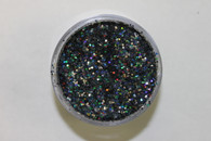 Starlight Nail Art Glitter - 79 Gray Hexagons (2 oz.)