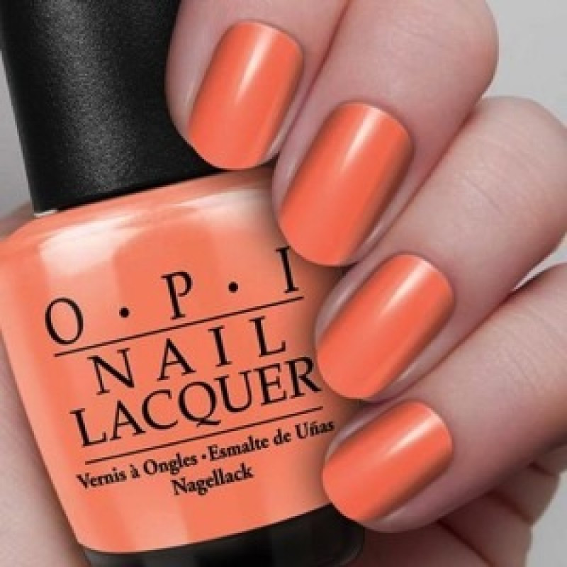 Opi Is Mai Tai Crooked H68 Nail Polish Orange Hawaii
