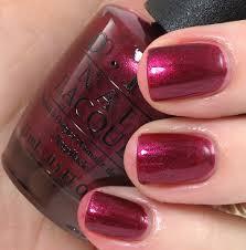 OPI Cute Little Vixen E07 Nail Polish Red Purple Violet Maroon ...