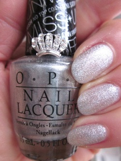 OPI This Gown Needs a Crown U11 Nail Polish Silver Glitter Miss ...
