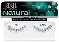Ardell Eyelashes - Natural Black 108 (65088)