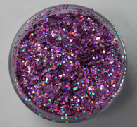 Starlight Nail Art Glitter - 78 Purple Hexagons (2 oz.)